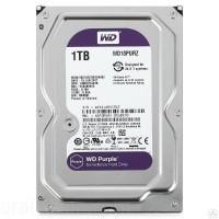 Жесткий диск SATA-3 1Tb WD Purple 5400rpm [WD10PURZ] Cache 64MB