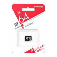 Карта памяти SmartBuy microSDXC 64 ГБ